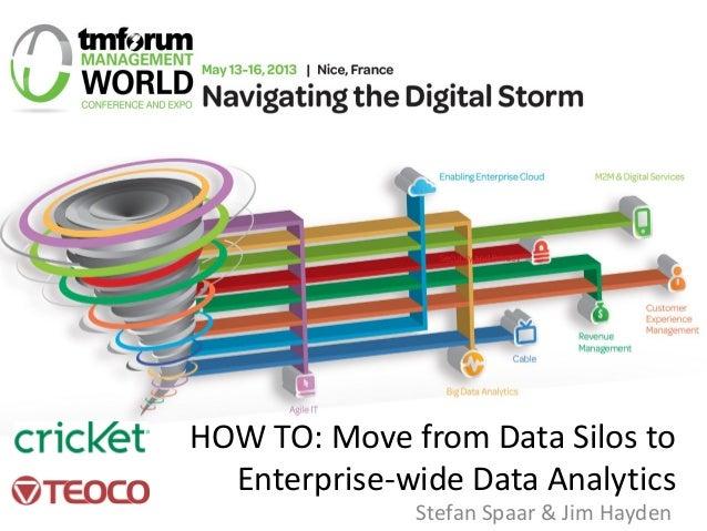 HOW TO: Move from Data Silos to Enterprise-wide Data Analytics Stefan Spaar & Jim Hayden