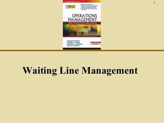 1  Waiting Line Management