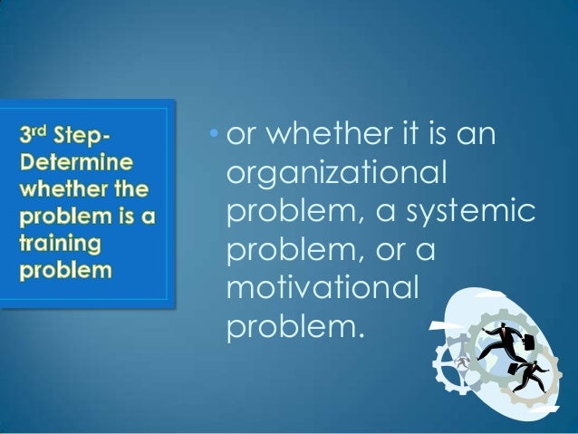 • If it is a training problem,  management must  decide how training can  be designed to bring the  company closer to the ...
