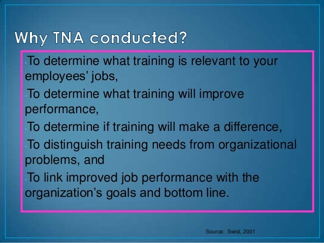 •To determine what training is relevant to youremployees' jobs,•To determine what training will improveperformance,•To det...