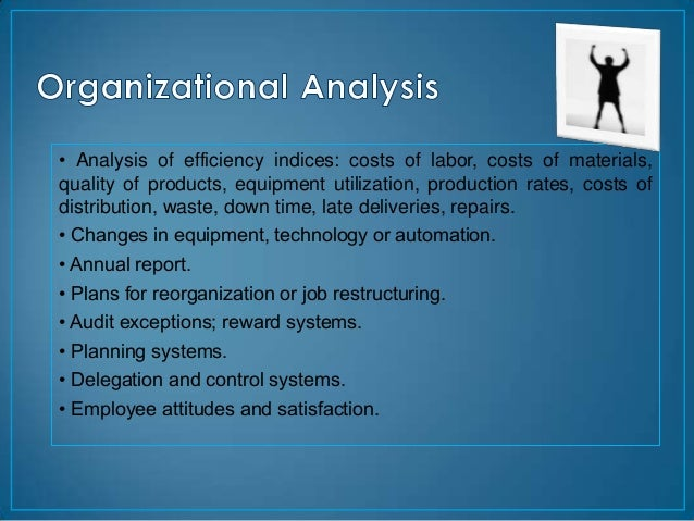 • Analysis of efficiency indices: costs of labor, costs of materials,quality of products, equipment utilization, productio...
