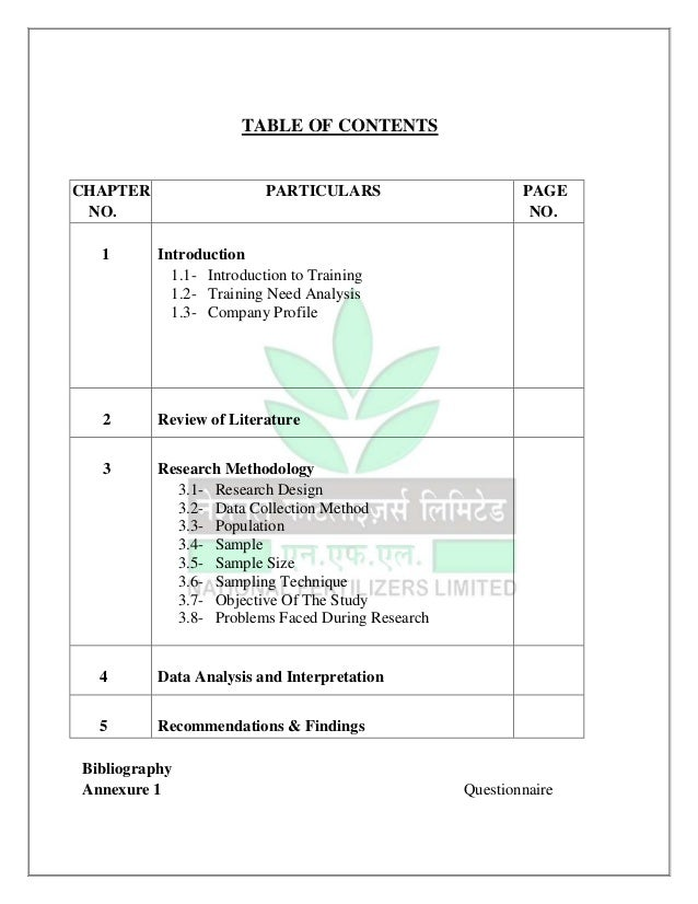 Training needs assessment essay