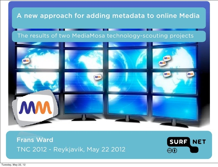 A new approach for adding metadata to online Media            The results of two MediaMosa technology-scouting projects   ...