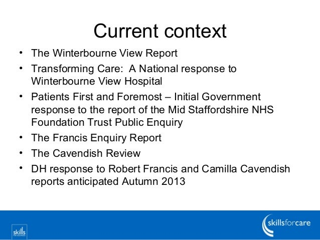 Winterbourne view report findings template