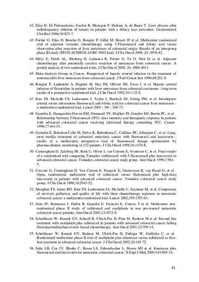 41 42. Elias D, Di Pietroantonio, Gachot B, Menegon P, Hakime A, de Baere T. Liver abscess after radiofrequency ablation o...