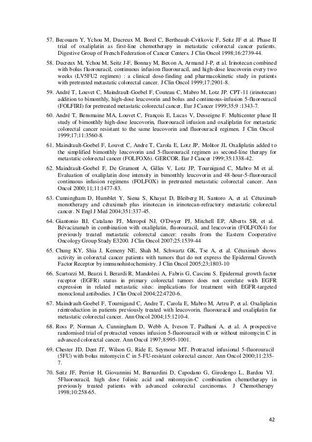 42 57. Becouarn Y, Ychou M, Ducreux M, Borel C, Bertheault-Cvitkovic F, Seitz JF et al. Phase II trial of oxaliplatin as f...