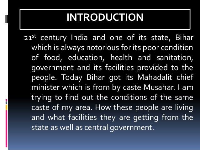 CONDITION OF THE POOR IN BIHAR, TN CHOUDHARY Slide 3