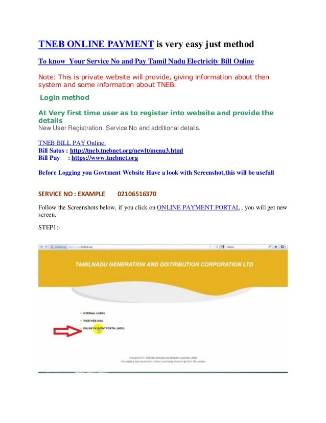 TNEB ONLINE PAYMENT is very easy just method To know Your Service No and Pay Tamil Nadu Electricity Bill Online Note: This...
