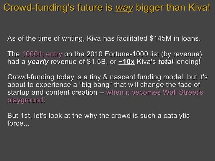 The Big Bang of Crowdfunding: Startups as a Public Asset Class Slide 2
