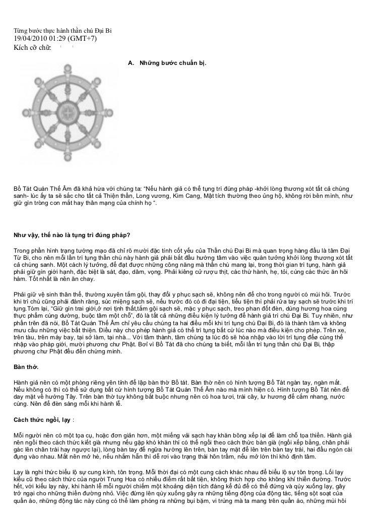 Từng bước thực hành thần chú Đại Bi19/04/2010 01:29 (GMT+7)Kích cỡ chữ:                                           A. Những...