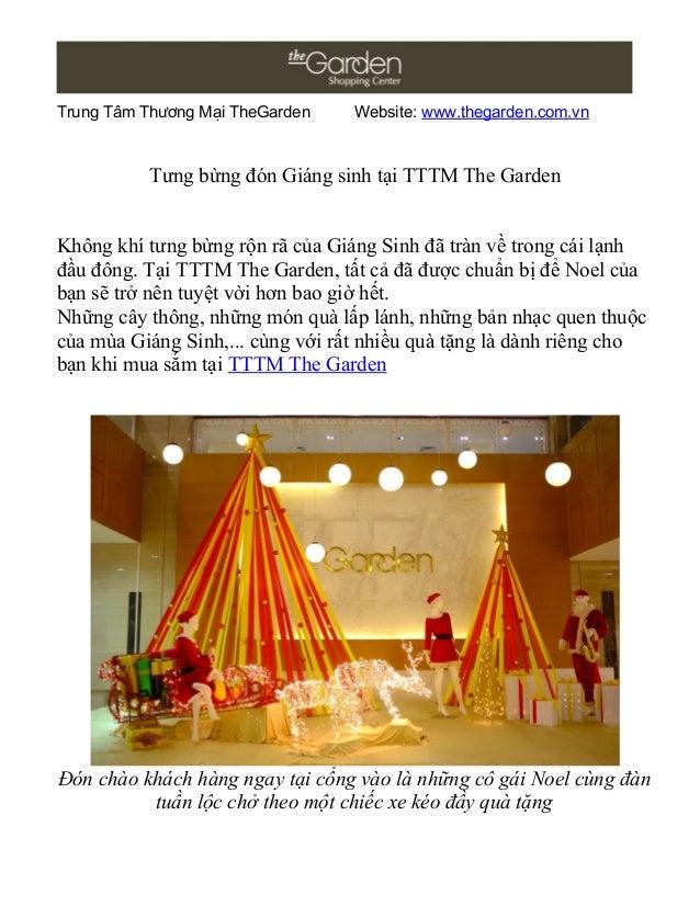 Trung Tâm Thương Mại TheGarden    Website: www.thegarden.com.vn          Tưng bừng đón Giáng sinh tại TTTM The GardenKhông...