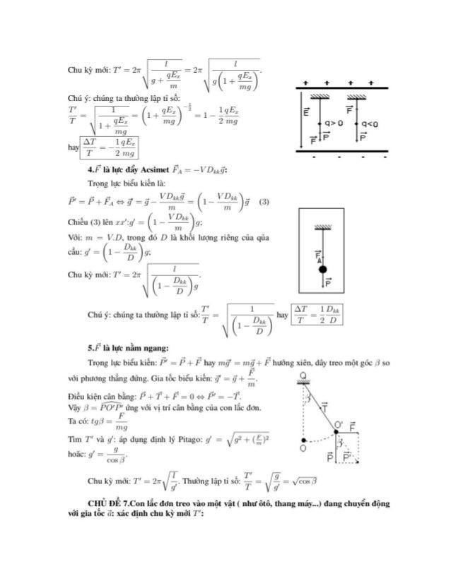 4.F là lực đẩy Acsimet F,, z -VDịịặ':  Trọng lực biểu kiện là:  Chiếu (3) lện .z:rệ':_ợ : (1 -  Vôi: m = V.D, trong đó D l...