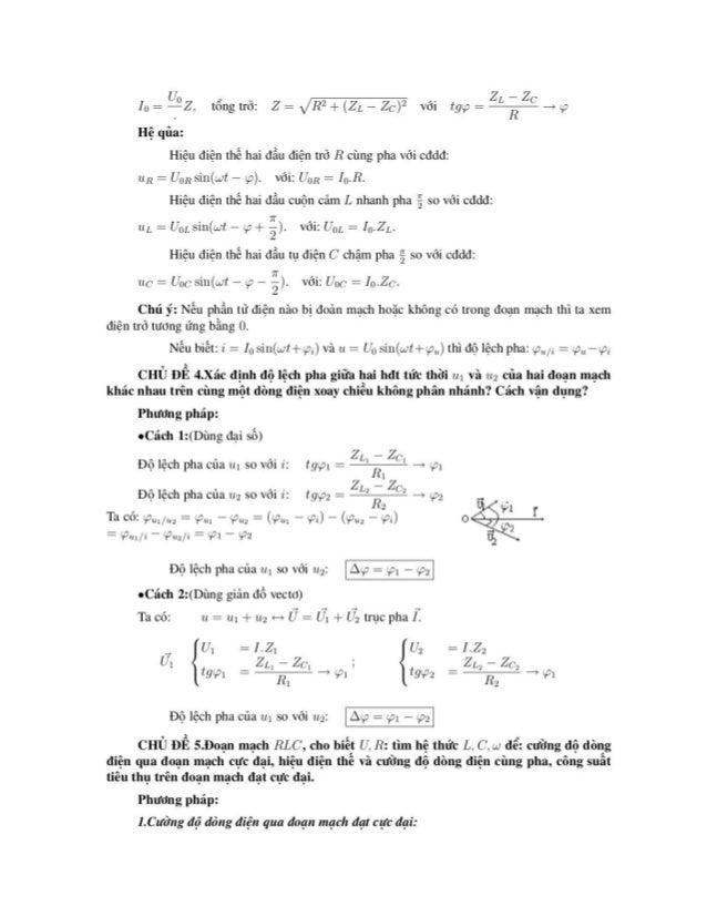 , U U Ap dụng định luật Ohm cho doạn mạch: I = - = m (*) Z R2 + (ZL - Zc)2  Ta có: 1 =mrt.1†‹-›liI =R2+(ZL Zc`)2 -7n7ỂTL‹ ...