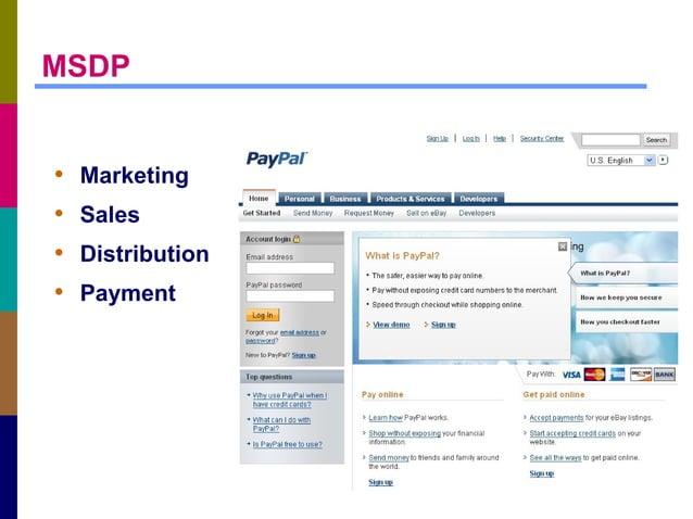 MSDP • Marketing • Sales • Distribution • Payment