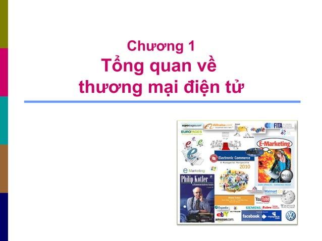 Chương 1 Tổng quan về thương mại điện tử