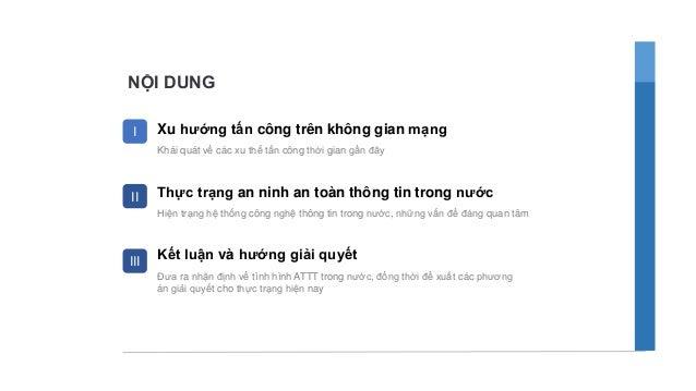 Tình hình ANTT ở Việt Nam - Lê Công Phú - CMC Infosec Slide 2