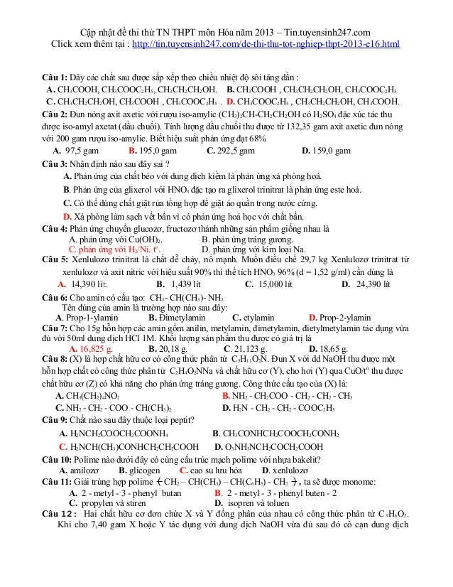 Cập nhật đề thi thử TN THPT môn Hóa năm 2013 – Tin.tuyensinh247.comClick xem thêm tại : http://tin.tuyensinh247.com/de-thi...