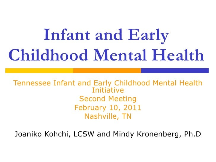 Infant and Early Childhood Mental Health Tennessee Infant and Early Childhood Mental Health Initiative Second Meeting Febr...