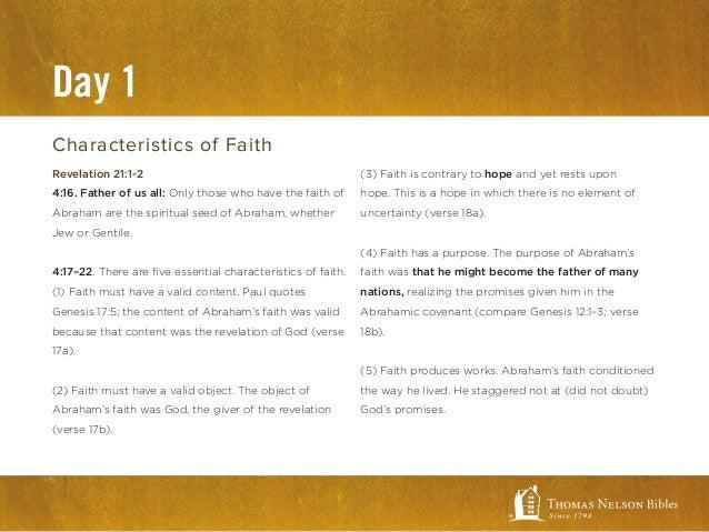 biblical faith what the bibles says about faith kjv study bible