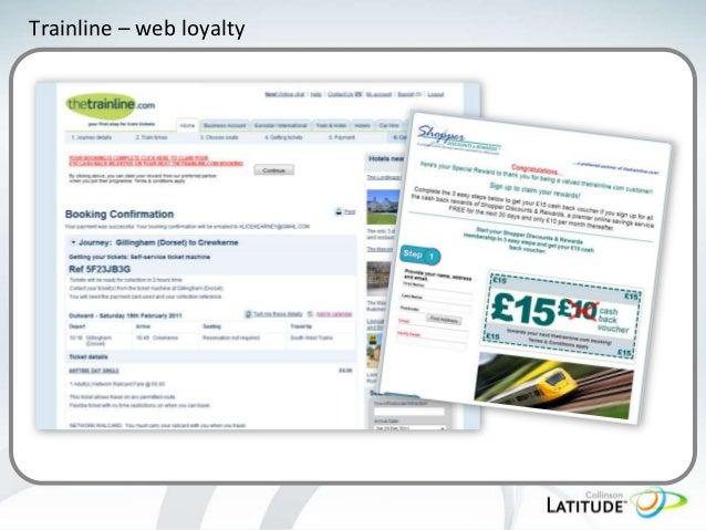 Trainline – web loyalty