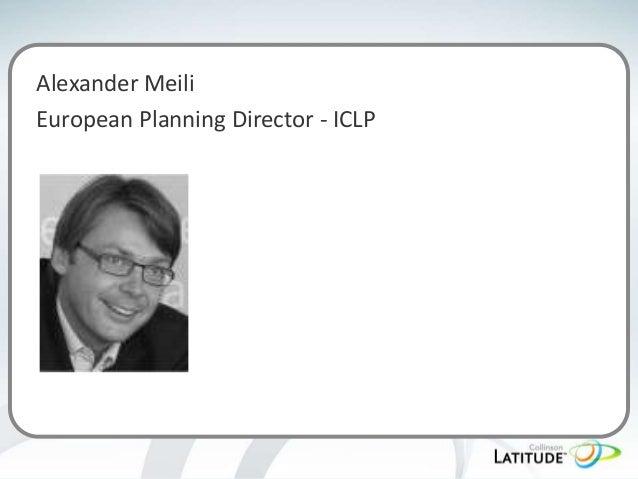 Alexander Meili European Planning Director - ICLP
