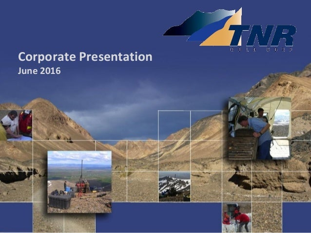 Corporate Presentation June 2016