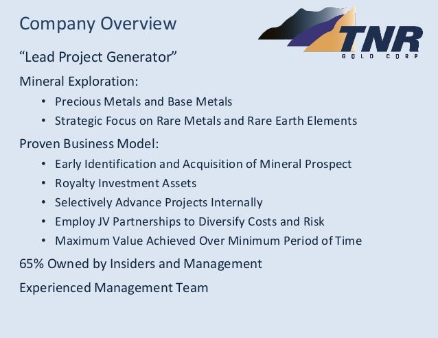 TNR Gold Investor Presentation March 2014 Slide 2