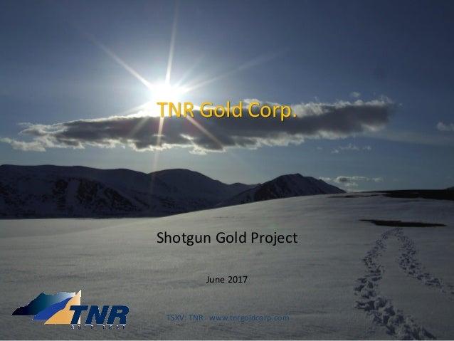 TNR Gold Corp. Shotgun Gold Project June 2017 TSXV: TNR www.tnrgoldcorp.com
