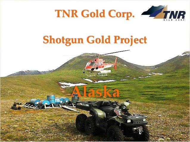 TNR Gold Corp. Shotgun Gold Project August 2018 TSXV: TNR www.tnrgoldcorp.com TNR Gold Corp. Shotgun Gold Project Alaska