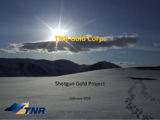 TNR Gold Corp. Shotgun Gold Project February 2018 TSXV: TNR www.tnrgoldcorp.com
