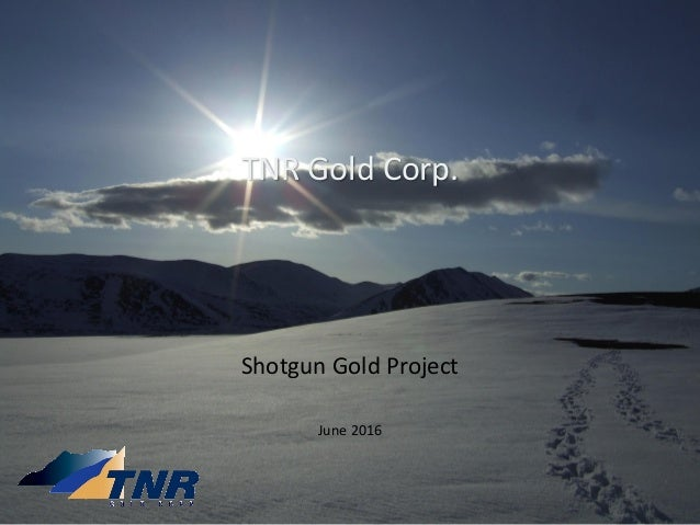 TNR Gold Corp. Shotgun Gold Project June 2016