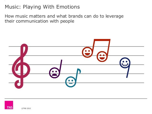 ©TNS 2012 Music: Playing With Emotions How music matters and what brands can do to leverage their communication with people