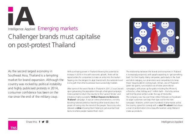 Intelligence Applied Emerging markets Intelligence AppliedShare this As the second largest economy in Southeast Asia, Thai...