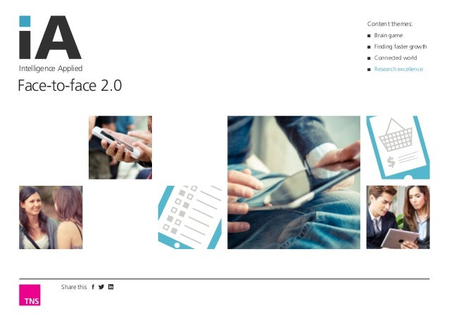 Share this  Intelligence Applied  Face-to-face 2.0  Content themes:  ■■ Brain game  ■■ Finding faster growth  ■■ Connected...