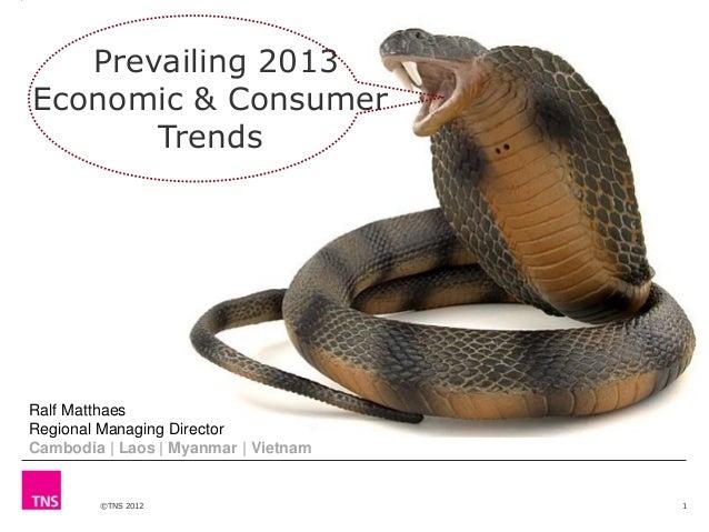 Prevailing 2013 Economic & Consumer Trends  Ralf Matthaes Regional Managing Director Cambodia | Laos | Myanmar | Vietnam  ...