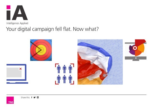 Share this Intelligence Applied Your digital campaign fell flat. Now what?