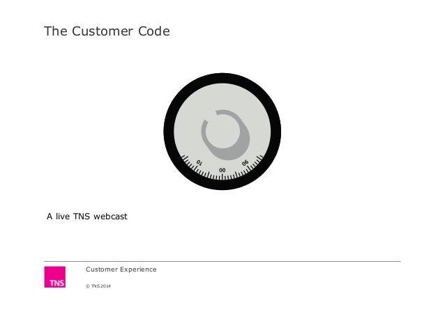 The Customer Code Customer Experience © TNS 2014 A live TNS webcast