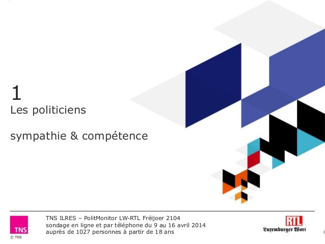 Polit Monitor RTL/Luxemburger Wort - Frühjahr 2014 Slide 3