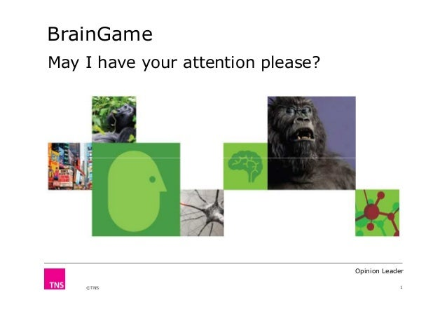 BrainGame May I have your attention please?  Opinion Leader ©TNS  1