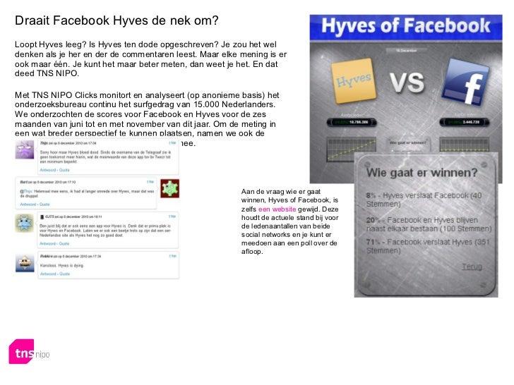 Tns nipo onderzoeksrapport hyves versus facebook