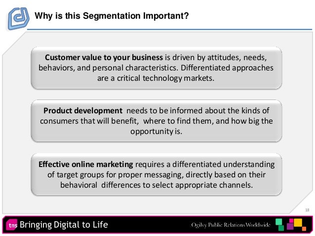 18 Bringing Digital to Life Product development needs to be informed about the kinds of consumers that will benefit, where...