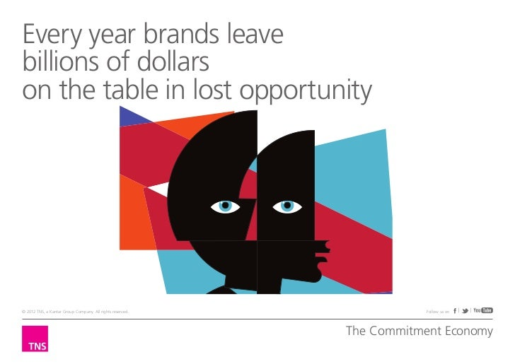 Every year brands leavebillions of dollarson the table in lost opportunity© 2012 TNS, a Kantar Group Company. All rights r...