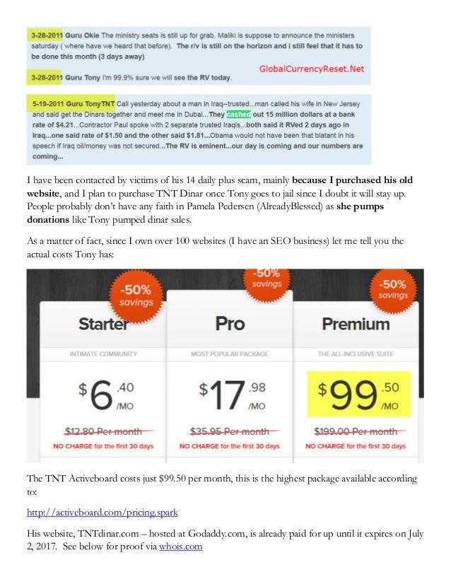 Court Documents - TNT Dinar   TNT Tony Anthony Wayne Renfrow   14 daily plus scam Slide 2