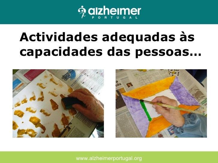 Conhecido TERAPIA OCUPACIONAL - Alzheimer Portugal NP61