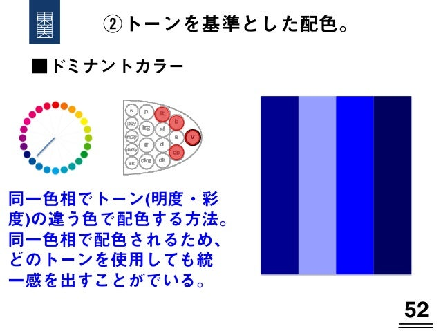 カラー ドミナント ドミナントカラー配色