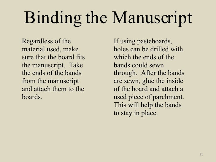how to make a manuscript at home