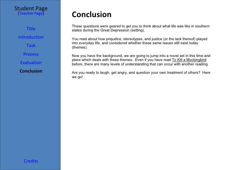 to kill a mockingbird powerpoint 6 conclusion student page title introduction