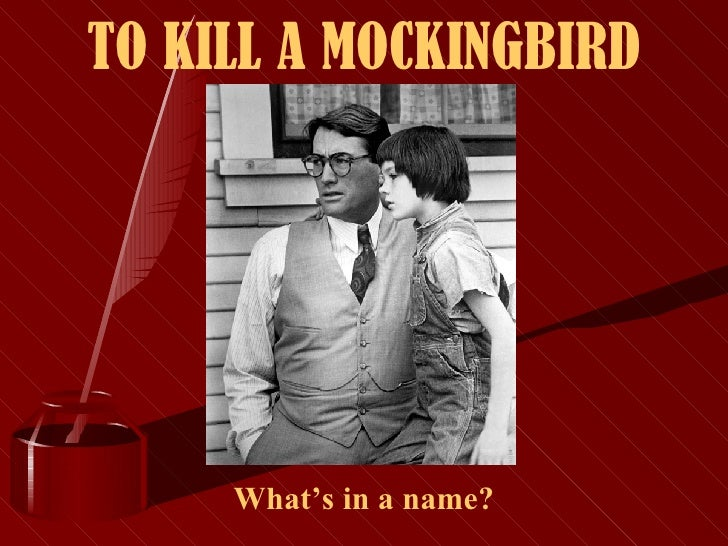 To Kill A Mockingbird Whats In A Name
