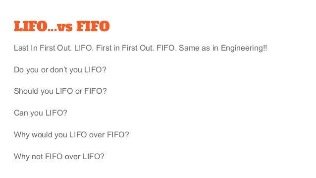 LIFO vs FIFO, GAAP vs IFRS? Slide 2