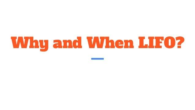LIFO vs FIFO, GAAP vs IFRS? Slide 3